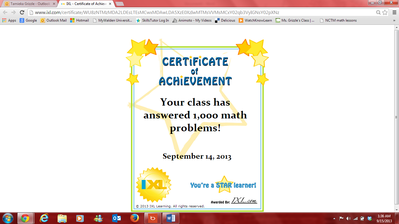 Ms. Grizzle\'s Class: Great Job Class on Practicing Your Math Skills ...